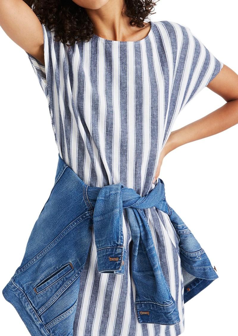 5b79450e5d3 Madewell Madewell Stripe Play Button Back Dress