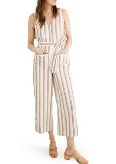 Madewell Stripe Pull-On Jumpsuit
