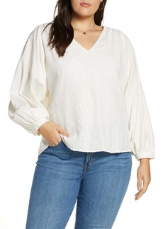 Madewell Stripe Raglan Peasant Top