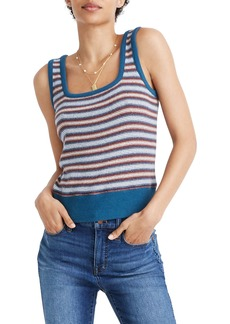 Madewell Stripe Ribbed Square Neck Tank