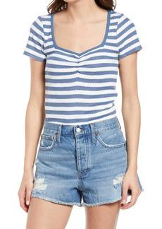 Madewell Stripe Ribbed Sweetheart T-Shirt