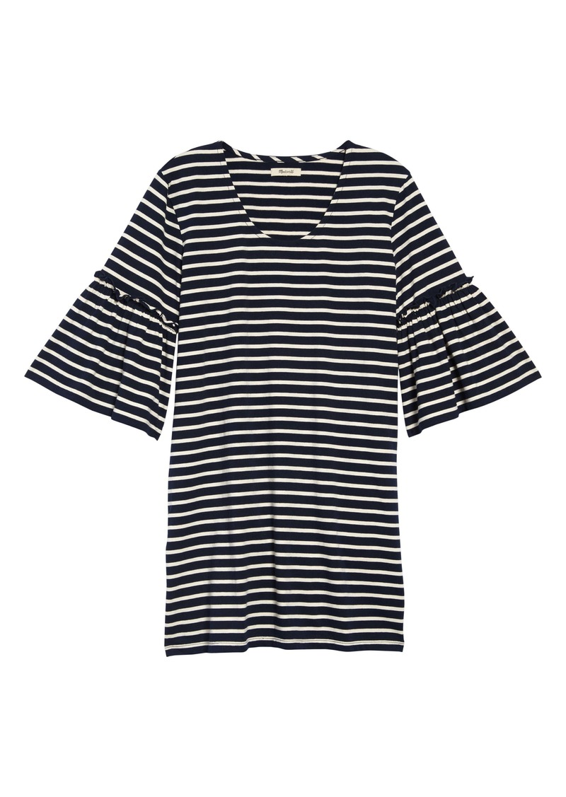 Madewell Stripe Ruffle Sleeve Dress