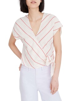 Madewell Stripe Sash Tie Wrap Top