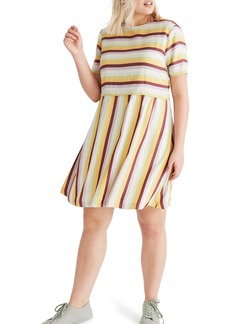 Madewell Stripe Scoop Back Dress