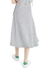 87389dbfc33d Madewell Stripe Side Button Midi Skirt Madewell Stripe Side Button Midi  Skirt