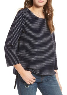 Madewell Stripe Side Lace-Up Top