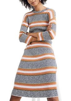 Madewell Stripe Sweater Dress