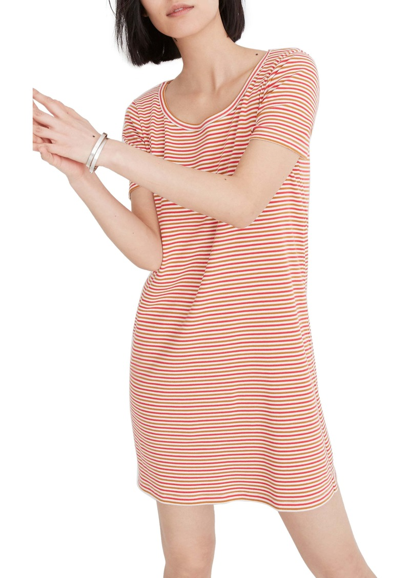 Madewell Stripe Swingy T-Shirt Dress