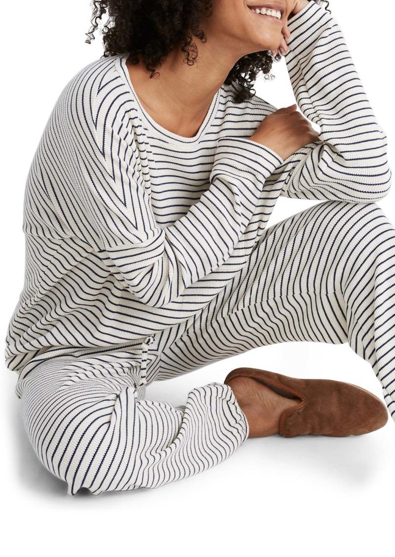 Madewell Stripe Waffle Knit Pajama Top