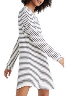 Madewell Stripe Waffle Knit Sleep Dress