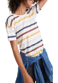 Madewell Stripe Whisper Cotton Crewneck Tee