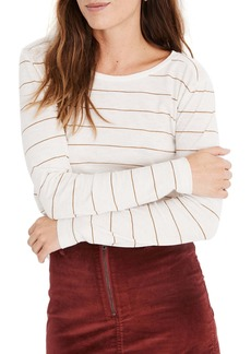 Madewell Stripe Whisper Cotton Long Sleeve Tee
