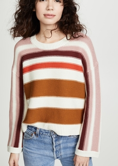 Madewell Valleyscape Striped Pullover Sweater