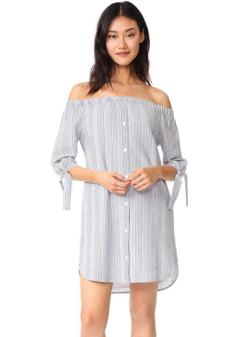 3ff9dc16a82 Madewell Madewell Striped Off Shoulder Shirtdress