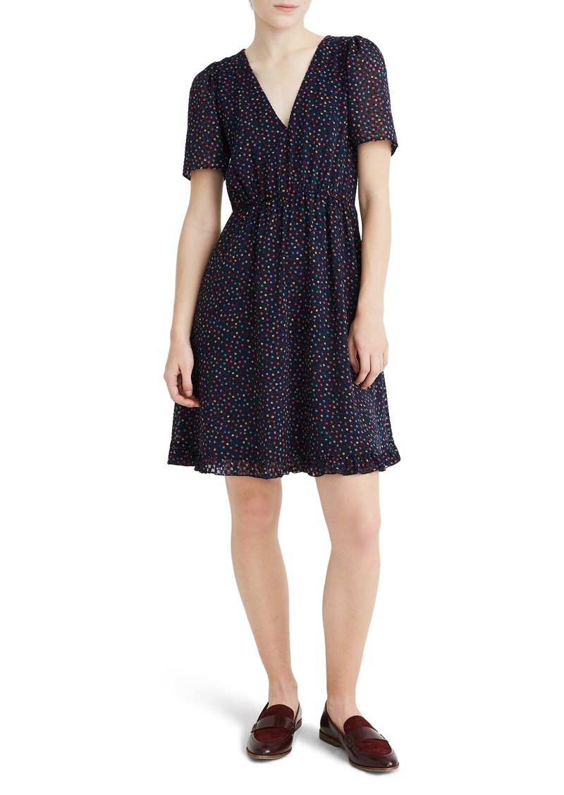 Madewell Sugar Dot Flutter Sleeve Dress