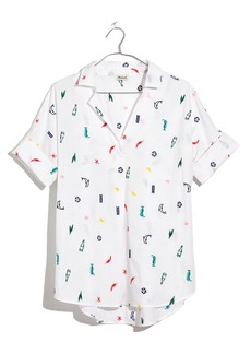 Madewell Summer Friday Embroidered Courier Shirt