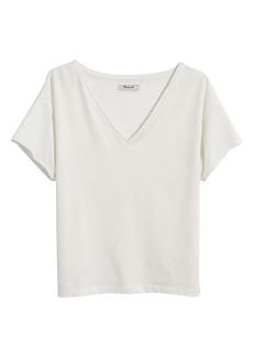 Madewell Supima® Cotton Drapey V-Neck Crop T-Shirt