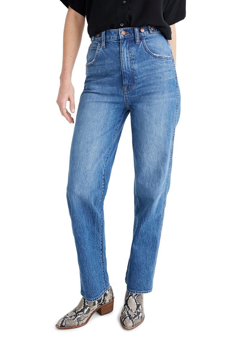 Madewell Tab High Waist Straight Jeans (Delafield Wash)