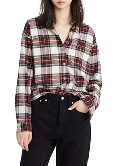 Madewell Tartan Plaid Flannel Shirt Jacket