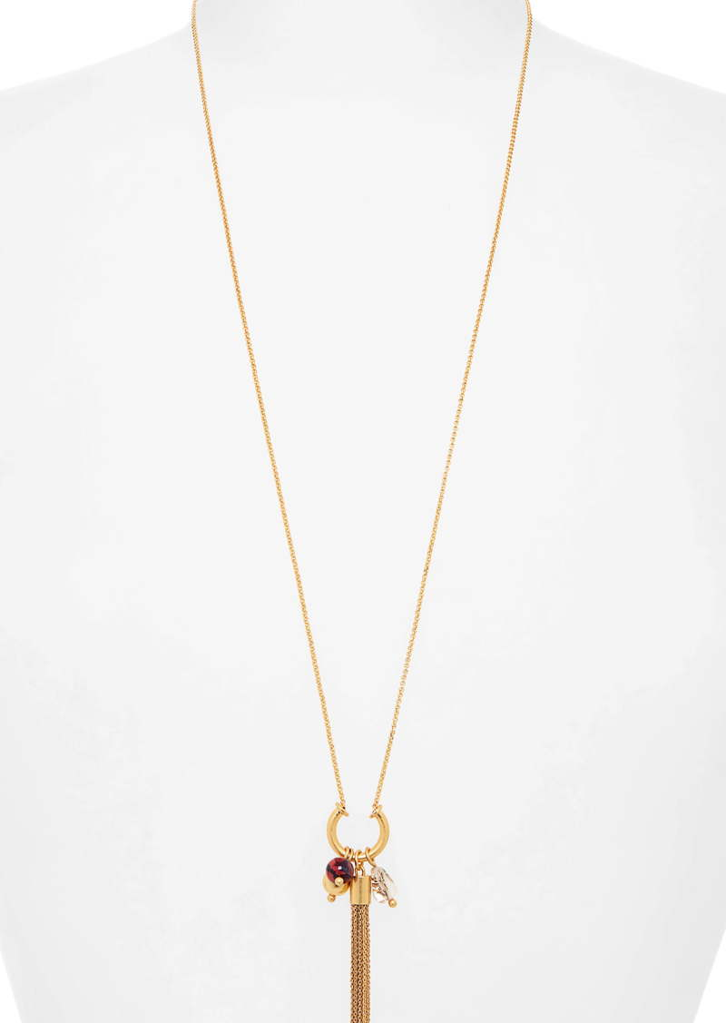 Madewell Tassel Bead Cluster Necklace