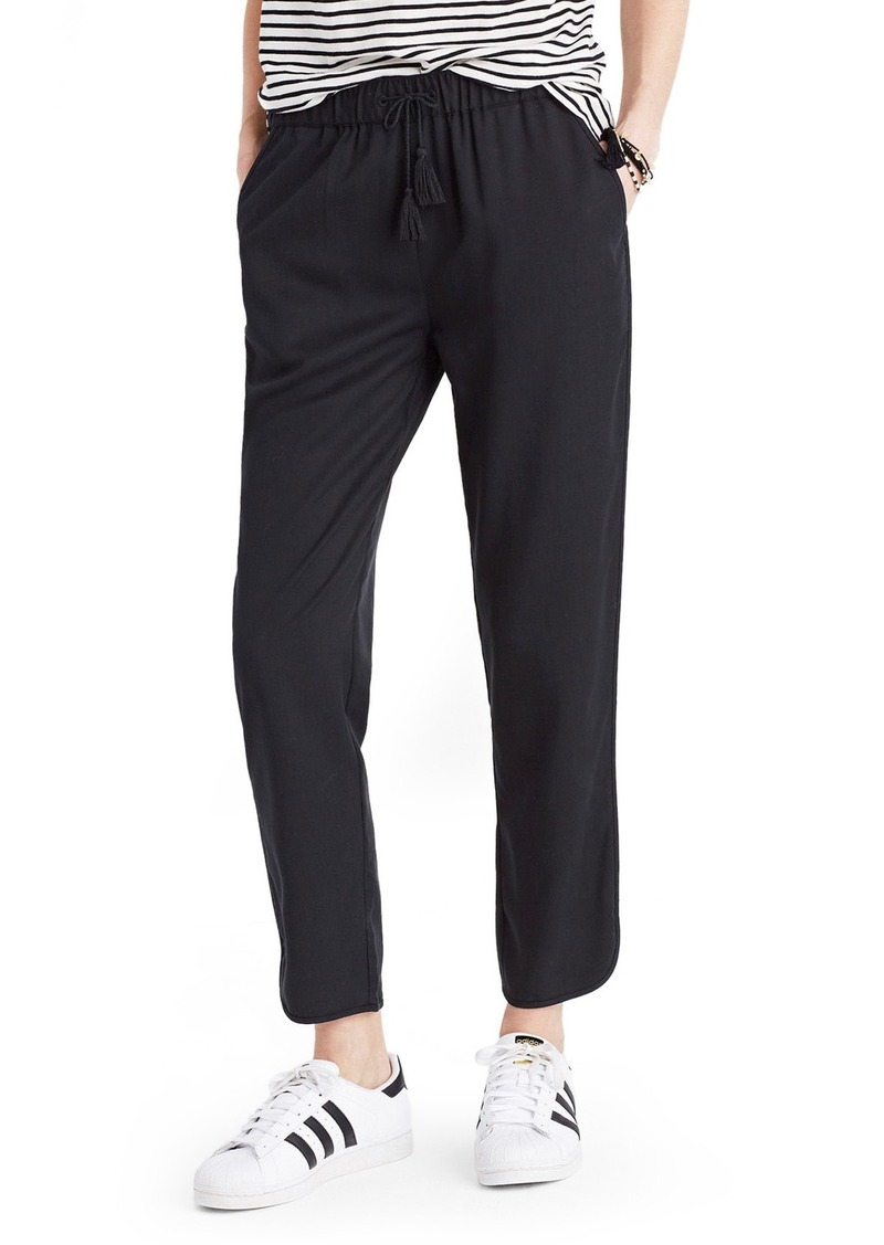 Madewell Tassel Tie Crop Track Pants