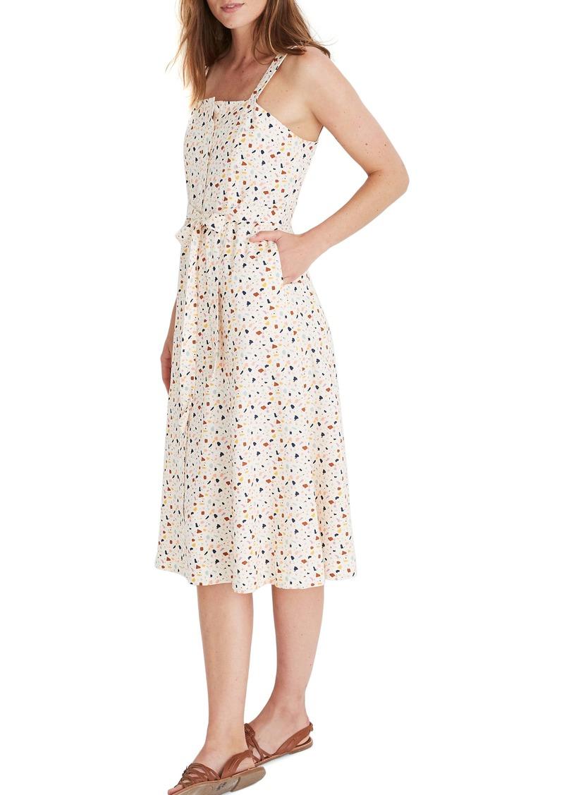 Madewell Terrazzo Square Neck Midi Dress