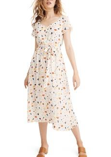 Madewell Terrazzo Tie Waist Midi Dress