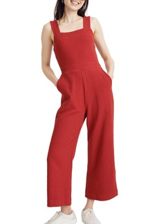Madewell Texture & Thread Apron Bow Back Jumpsuit