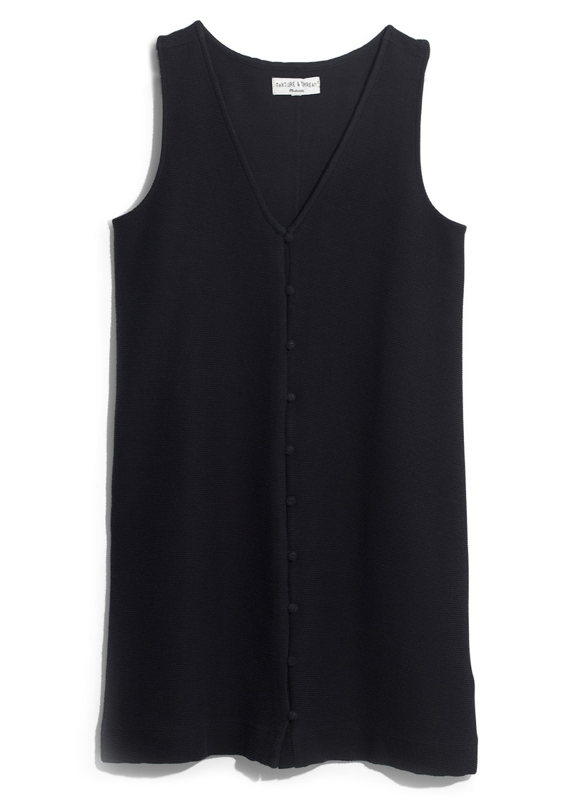 Madewell Texture & Thread Button Front Tank Dress