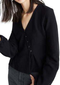 Madewell Texture & Thread Button-Wrap Top