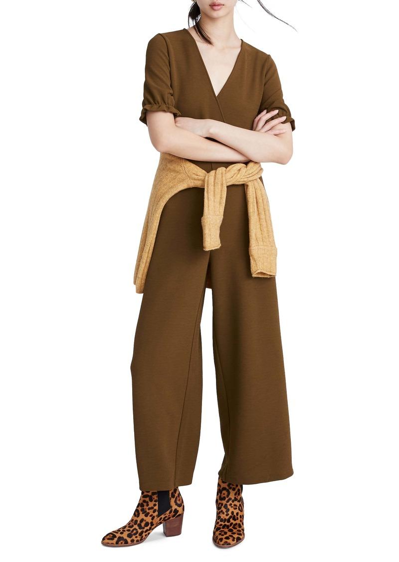 Madewell Texture & Thread Crepe Crossover Jumpsuit