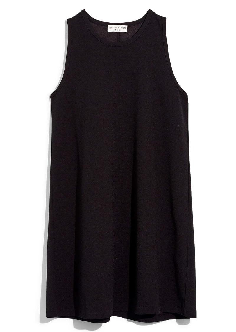 Madewell Texture & Thread Crepe Swingy Tank Dress