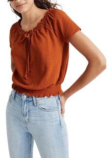 Madewell Texture & Thread Drawstring Top