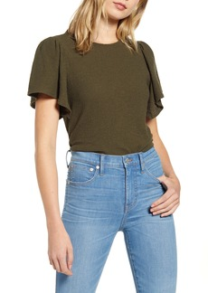 Madewell Texture & Thread Flutter Sleeve Top