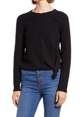 Madewell Texture & Thread Front Knot Jacquard Top