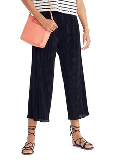 Madewell Texture & Thread Micropleat Wide Leg Pants