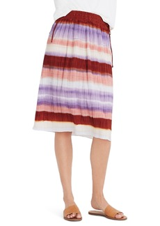 Madewell Texture & Thread Ombré Rainbow Micropleat Midi Skirt