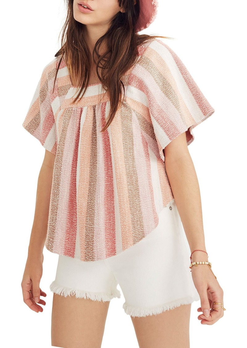 640c22b580ad75 Madewell Madewell Texture & Thread Stripe Butterfly Top | Casual Shirts