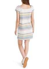 Madewell Texture & Thread Stripe Cap Sleeve Dress