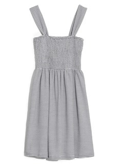 Madewell Texture & Thread Stripe Smocked Dress