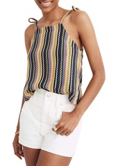 Madewell Texture & Thread Stripe Tie Shoulder Tank Top