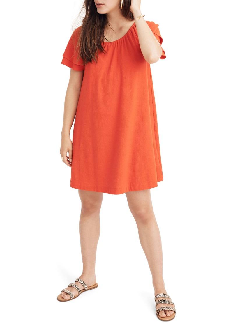 Madewell Texture & Thread Tiered Sleeve Dress