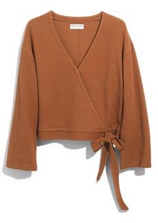 Madewell Texture & Thread Wrap Top