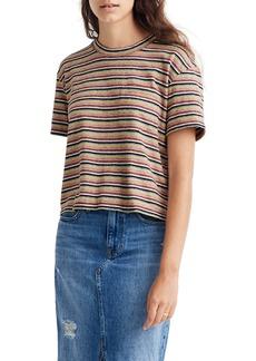 Madewell Textured Easy Crop Tee in Stripe