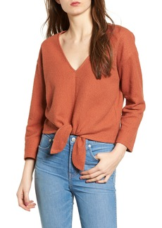 Madewell Textured Tie Front Top