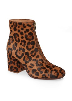 Madewell The Amalia Leopard Genuine Calf Hair Zip Boot (Women)