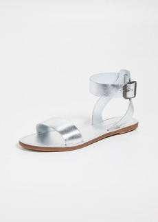 c9dc732f87b Madewell The Boardwalk Ankle-Strap Sandals in Metallic