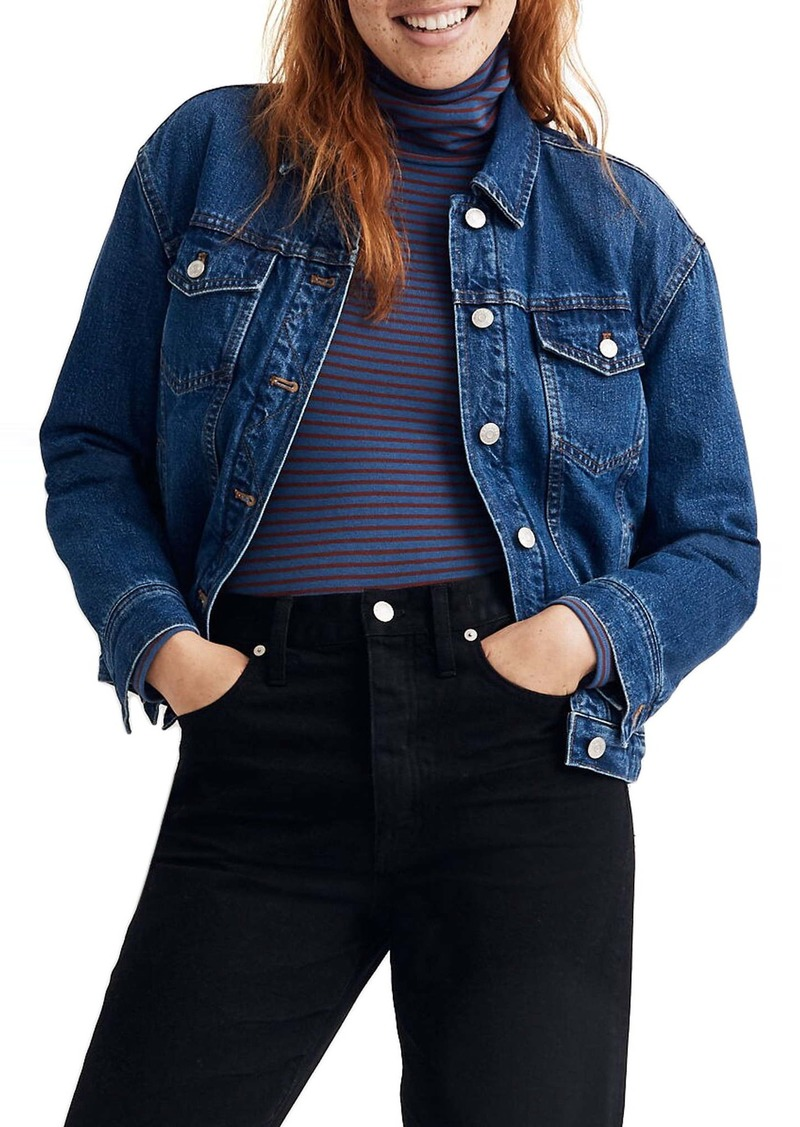 Madewell The Boxy Crop Jean Jacket