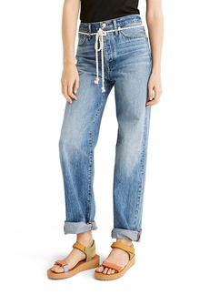 Madewell the Dadjean Rope Belt Jeans (Kingshill Wash)