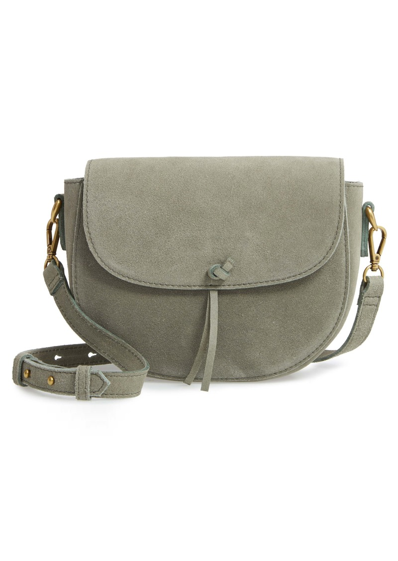 Madewell The Elsewhere Tie Suede Saddle Bag